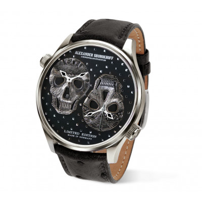 ALEXANDER SHOROKHOFF LOS CRANEOS TWO AUTOMATIC MOUVEMENTS  46,5MM MEN'S WATCH LIMITED EDITION 47PCS AS.DT02-1