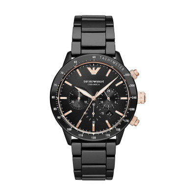 EMPORIO ARMANI MARIO 43MM CERAMIC MEN'S WATCH  AR70002