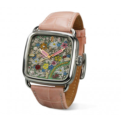 ALEXANDER SHOROKHOFF ALEXANDER PUSHKIN  CAMOMILE AUTOMATIC 36X36MM  LADIES WATCH LIMITED EDITION 5PIECES  AS.AP-KMM2