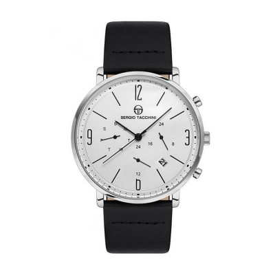 SERGIO TACCHINI CITY DUAL TIME 40MM MEN`S WATCH  ST.2.113.01